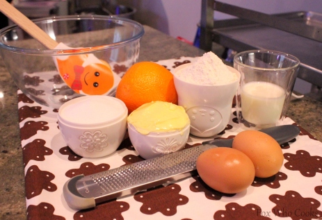 Orange Cake Slice ingredients