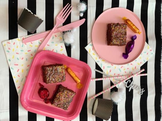 Flatlay Choc Cake